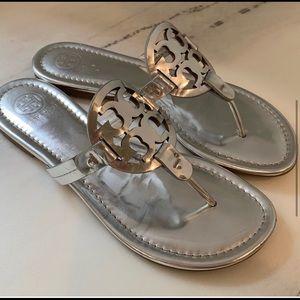 Size 7 Silver Miller Sandal